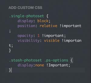 Change photoset layout